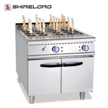 Cocina eléctrica comercial de las pastas del acero inoxidable de la comida rápida comercial de la cocina con el cesto 16 cestas