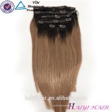 Private Label Superior Qualität Klasse 6A 7A 8A Unverarbeitete Doppel gezogene blonde Remi Clip in Haarverlängerung 200 Gramm