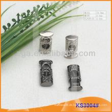 Metallkordelstopper oder Knebel für Kleidungsstücke, Handtaschen und Schuhe KS3004