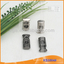 Metal cord stopper or toggle for garments,handbags and shoes KS3004