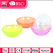 2015 Hotsales plastic transparent salad bowl