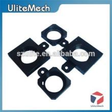 Acabado anodizado a medida Color negro Aluminio CNC Piezas