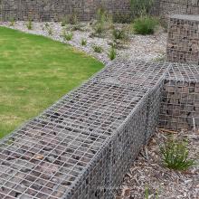 China supplier easy installation  decorative galvanized welded gabion iron wire stone cage