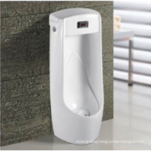 Standing Floor Bathroom Sensor Stall Urinal with Indutor in Withe