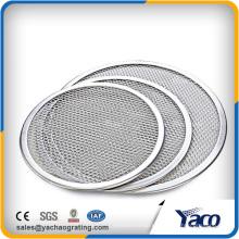 Pantalla redonda inconsútil 7 '' de la pizza de la malla del aluminio del proveedor de China - 22 ''