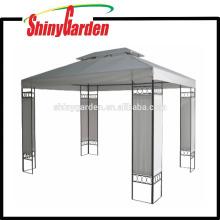 techo de metal de acero al aire libre techo de dosel de Gazebo con paneles laterales