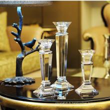 Bougeoir en cristal européen grand K9 pour la décoration à la maison