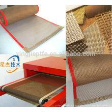 Tienda en línea china no-adhesivo ptfe fibra de vidrio recubierto tela de malla de cinta transportadora