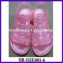 New woman Glitter trasparent jelly shoes in 2015