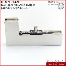 Abrazadera curvada de forma de L para la puerta de cristal sobre el ajuste del remiendo