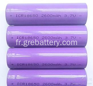 3,7 au lithium ion batterie rechargeable