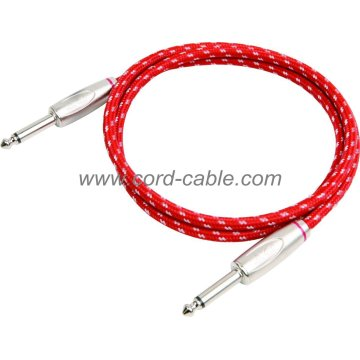 DBS serie instrumento guitarra Cable Jack a Jack Red trenzada