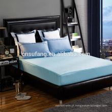 Alibaba fornecedor de ouro 60 S long-staple lençol de algodão equipado barato por atacado bule folha plana lençol
