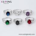 15727 xuping bijoux chine 5 grammes or design bague zircone cubique
