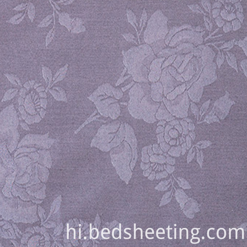 Grey Polycotton 2575 Jacquard Fabric With Roses