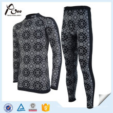 Men Ski Underwear Coolmax Winter Thermal Suit