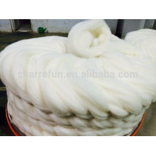 Chinese cashmere tops white,fine dehaired and combed cashmere tops white