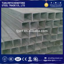 Standard ERW soudé carré et rectangulaire tube en acier tube carré tube de fer