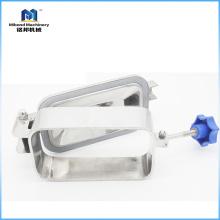 Grado alimenticio de los accesorios del tanque de la cubierta de boca del cuadrado del acero inoxidable con la presión (control / válvula neumática)
