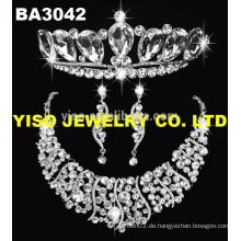 Display Diamant Hochzeit Schmuck Set Halskette