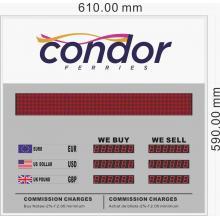Tablero indicador de tipo de cambio de moneda ERB-2803B + MS