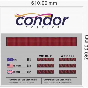 Currency exchange rate display board ERB-2803B+MS