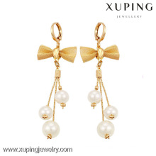 90095 Xuping Bow-knot Drop Earring Hot Stylish Pearl Earrings