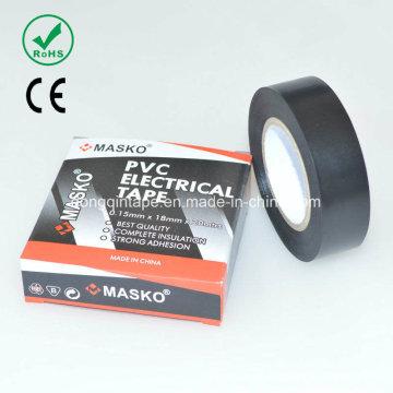 Ruban d'isolation électrique en PVC avec adhésif en caoutchouc pour protection électrique