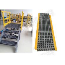 Os degraus de escada de FRP / Stairstep, grating moldado da tampa da escada da fibra de vidro / GRP