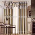 100% poliéster Material y franja cortina línea de estilo