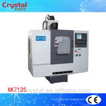 Máquina horizontal vertical de fresagem cnc XK7125