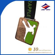 Medalha de forma personalizada de medalha de taekwondo chapeada de cobre personalizado