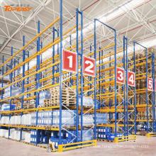 Rack de palete seletiva de armazenamento de aço resistente