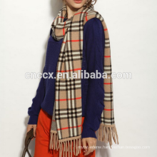 PK17ST046 traditional scottish cashmere scarf with tassels