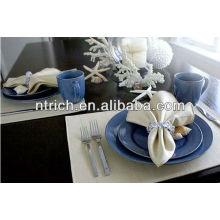 serviettes de table polyester de 100 %