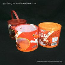 Kundenspezifischer Druck Plastikrohr-Zylinderkasten (runder Kasten)
