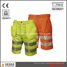 Safety Men′s Reflective Trousers Pants Hi Vis Shorts