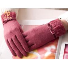 Primavera luvas de lã personalizado feminino por atacado