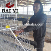 Jaula de batería de 4 niveles de gallina de pollo para granja avícola de Tanzania