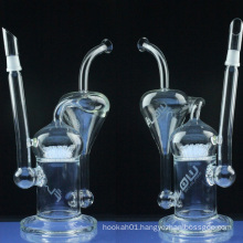 Large Recycler Glass Pipe for Wholesale with Sprinkler Perc (ES-GB-025)