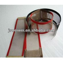 PTFE maille bande transporteuse Maille taureau nez joint tondeuse joint boucle en acier utilisé dans PTFE bande transporteuse