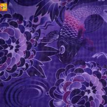 Tissu imprimé en mousseline de soie 100% polyester 75D * 75D
