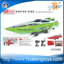 Hot selling cheap rc fishing bait boat for sale 2.4 GHz Darter King 1:12 scale R/C boat CE Test Report H135908