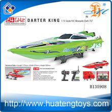 Горячая продавая дешевая лодка приманки rc рыболовства для сбывания 2.4 GHz Король Darter 1:12 маштаб отчета о испытаниях шлюпки R / C CE H135908