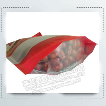 Jujube Zipper Stand up Plastic Packing Pouch