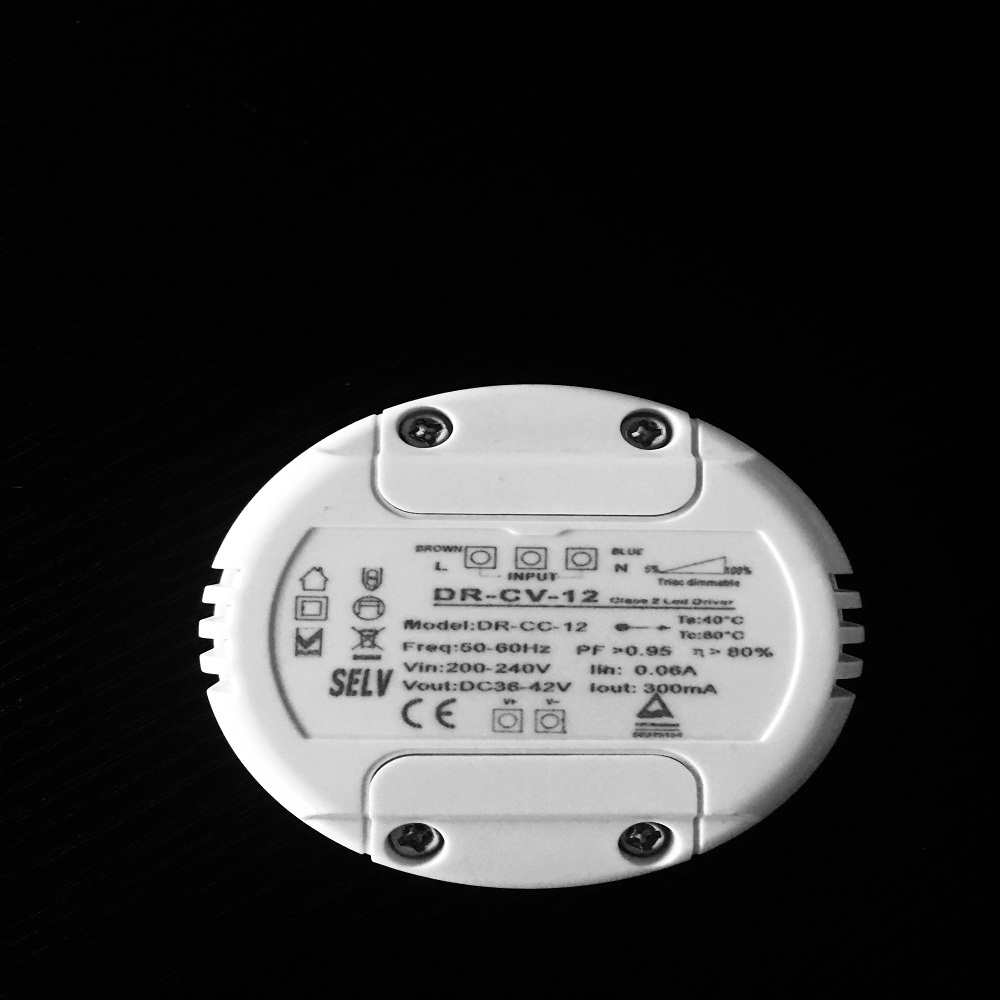 round shape led driver for 12V LED strip light