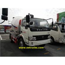 Yuejin 2500L Concrete Mixing Transport Trucks