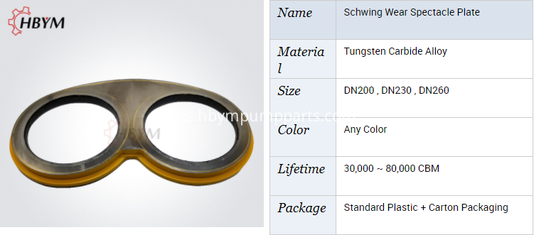 schwing spare parts wear plate