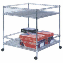 Easy to assemble Stainless steel wire shelf Adjustable Epoxy Wire Shelves chromed wire shelf rack