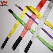 High quality 1T Polyester endless flat Webbing Sling for lifting pallets / containers